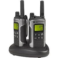 Motorola Paire de talkies walkies Motorola T80 portée en champs libre 10km Argent