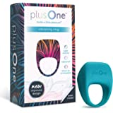 Plus One Vibrating Ring for Couples or Individuals, Body-Safe Silicone Fully Waterproof Extremely Flexible Rechargeable Battery, Tantalizing Teal, 3.85 x 1.65 x 1.02 (6701)
