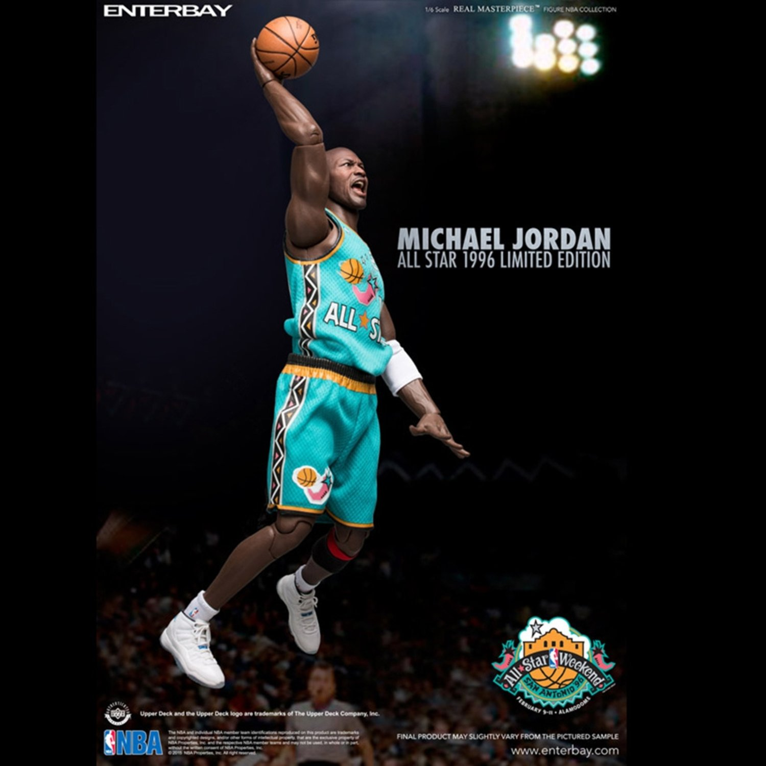 NBA Michael Jordan 1996 All-Star Game 1:6 Scale Real Masterpiece Action Figure by Animewild