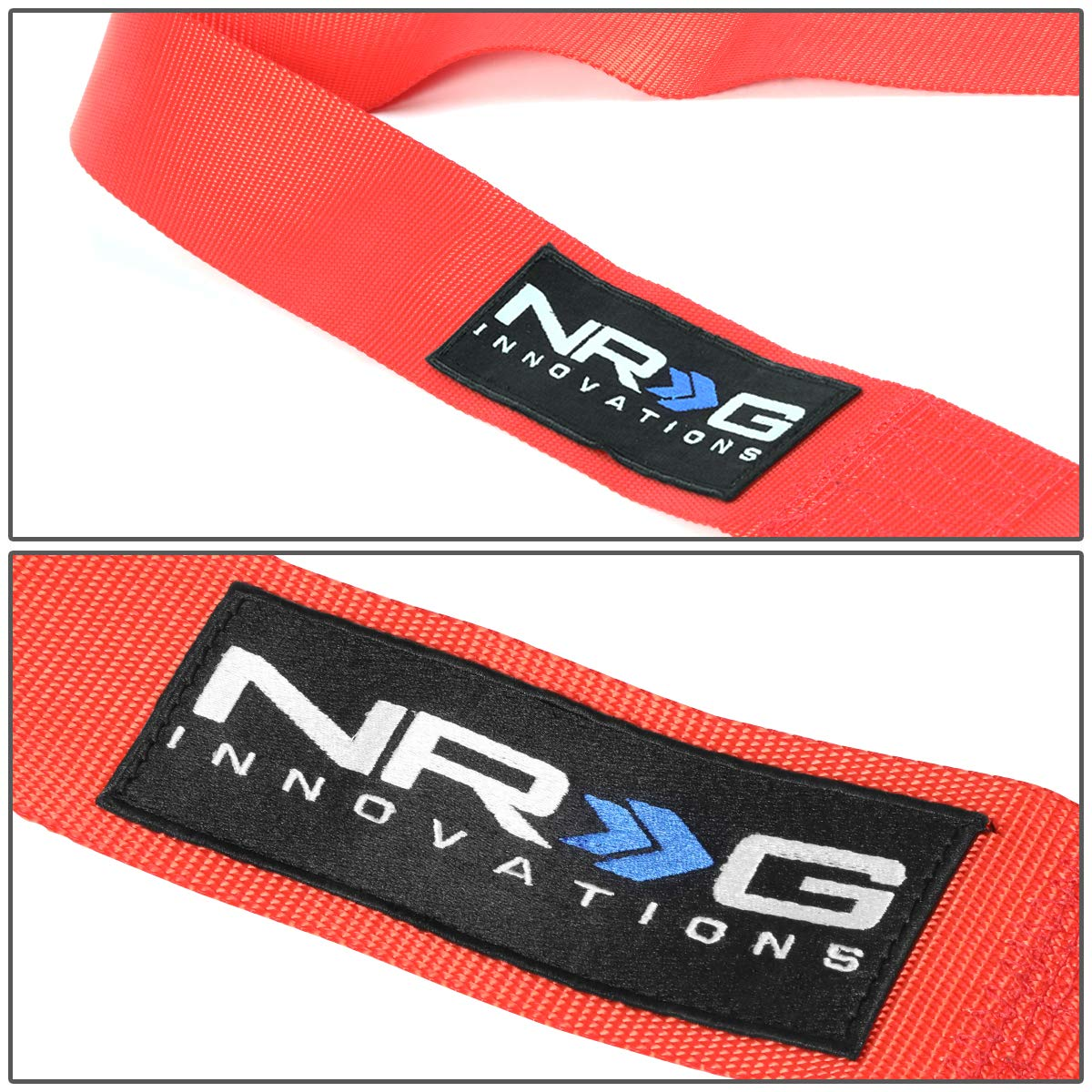 NRG Innovations SBH-RS5PCDCAMO-GY SFI Approved 5-Point Cam Lock Buckle Seat Belt Harness LED Keychain Flashlight