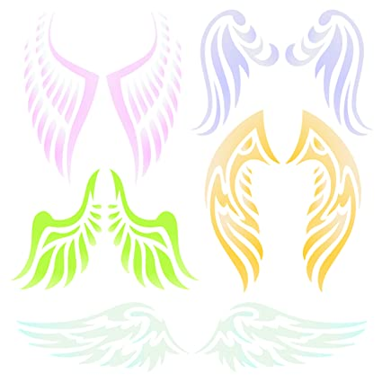 Amazon.com: Angel Wing Stencil - 4.5 x 4.5 inch (S) - Reusable ...