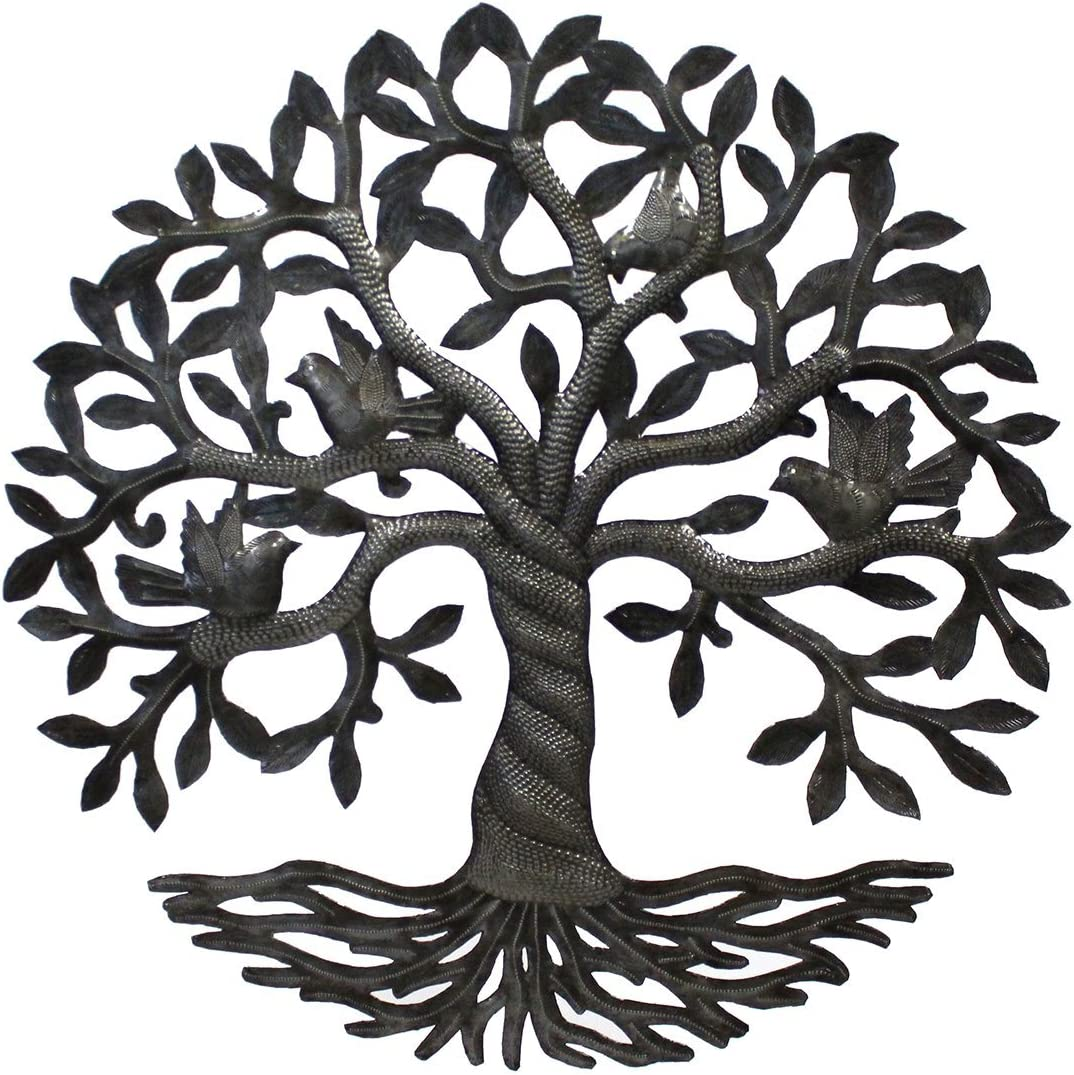Vineworks Fair Trade Celtic Rooted Tree of Life Metal Art from Haiti 23