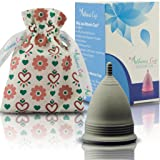 Athena Menstrual Cups Period Cup - One Pack | Regular Flow | Solid Black Size 2 Large | A Softer Menstruation Cup Made for Easier Periods | Excellent Tampon and Pad Alternative (Color: Solid Black, Tamaño: Size 2)