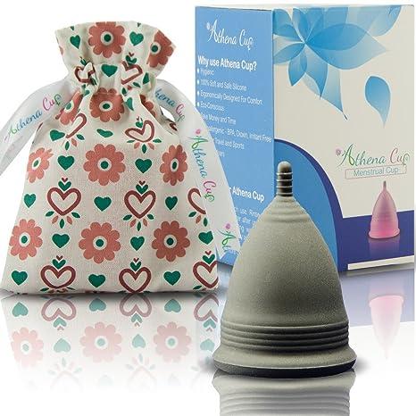Athena Copa Menstrual – La copa menstrual más recomendada - Incluye una bolsa de regalo -