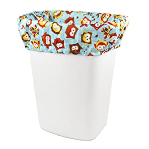 Image: Bumkins Diaper Pail Liner | 100% Polyester | Resists odors and stains | Fits most diaper pails | Reusable for less waste
