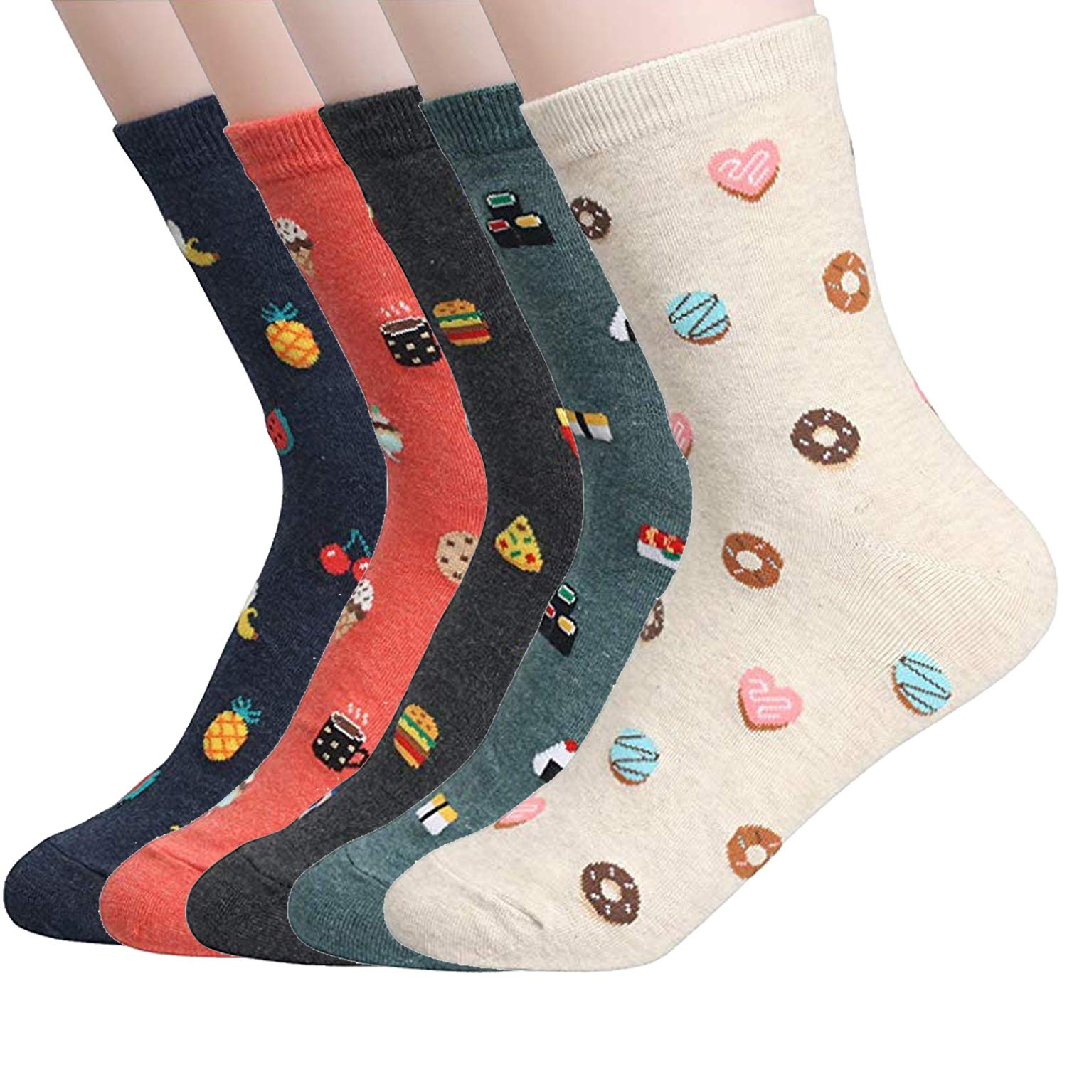 Womens Casual Socks Striped and Dot Patterned Good for Gift Idea Value Sets