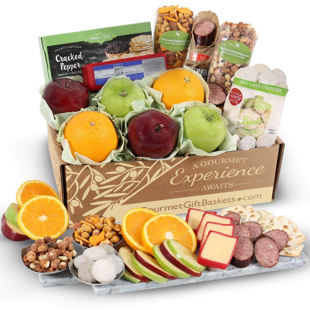 GourmetGiftBaskets.com Holiday Fruit Basket - Gourmet Gift Baskets Prime - Christmas Gift Basket - Holiday Gift Basket - Food Gift Baskets Prime - Fruit Baskets - Gift Baskets
