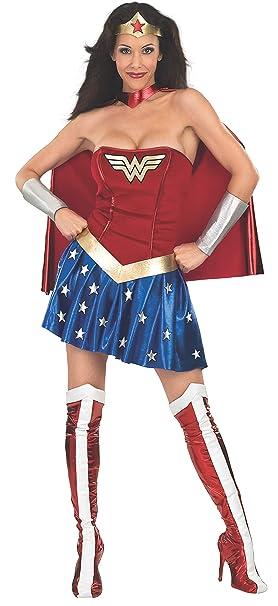 b4a9cba5051 DC Comics - Disfraz de Wonder Woman para mujer, Talla M adulto (Rubie's  888439