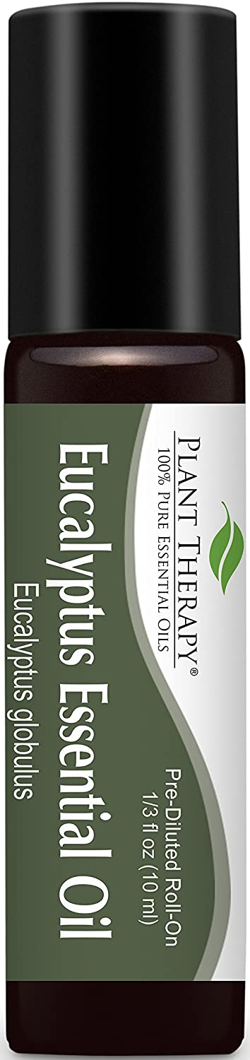 Eucalyptus (Globulus) Pre-Diluted Essential Oil Roll-On 10 ml (1/3 fl oz). Ready to use! Plant Therapy Essential Oils