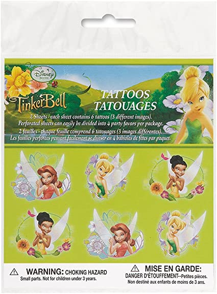Disney Fairies Tinkabell Birthday Wrapping Paper Inc 2 Sheets /& 2 Tags
