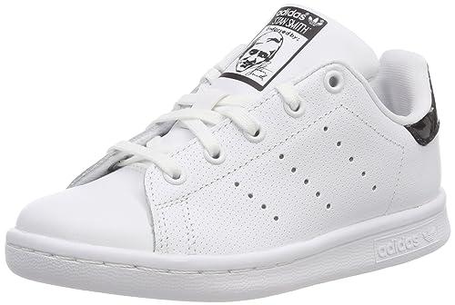 adidas Stan Smith C, Scarpe da Ginnastica Basse Unisex-Bambini, Bianco Footwear White