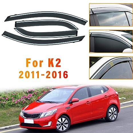 Side Window Deflectors For K ia SPORTAGE R 2011-2017 4PCS Car Window Visor Sun Rain Smoke Vent Shade Tape-On Outside Visors