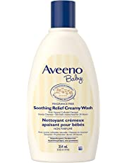 Aveeno Baby Eczema Creamy Wash with Colloidal Oatmeal, Soothing Relief for Dry, Itchy Skin, Unscented and Paraben Free, 354 mL