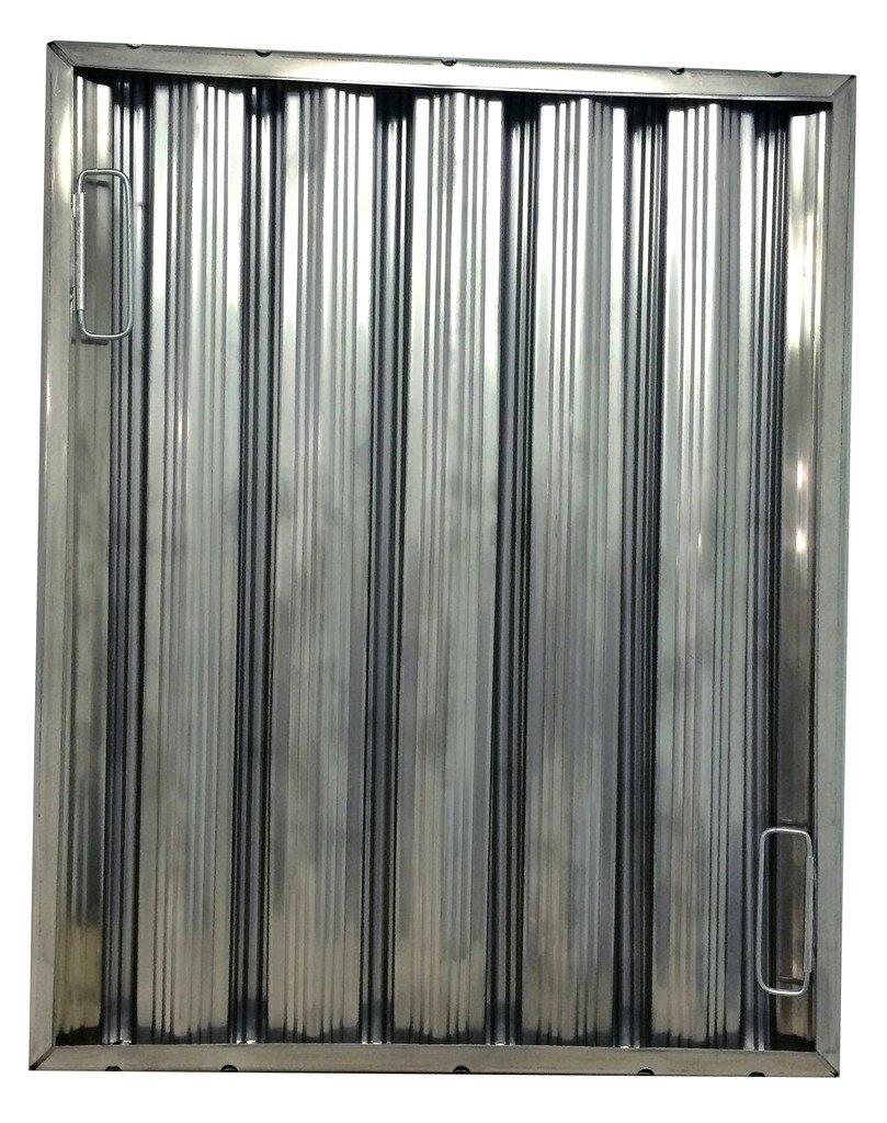25''tall x 20'' wide x 2'' Trine Heavy Duty Stainless Steel Restaurant Hood Baffle Filter (Dual Riveted / Ridged Baffle)
