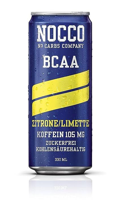 nocco BCAA Drink Incluye pfand – Sabor Lima/Limón – No Carbs Company Fitness Drink