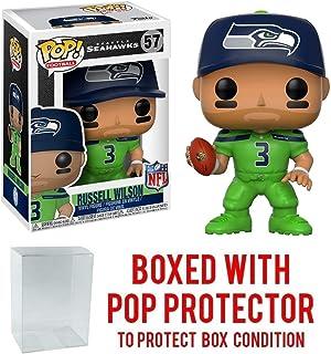 #099 // 31754 - B : NFL x Funko POP Football Vinyl Figure /& 1 POP Seattle Seahawks Doug Baldwin Compatible PET Plastic Graphical Protector Bundle
