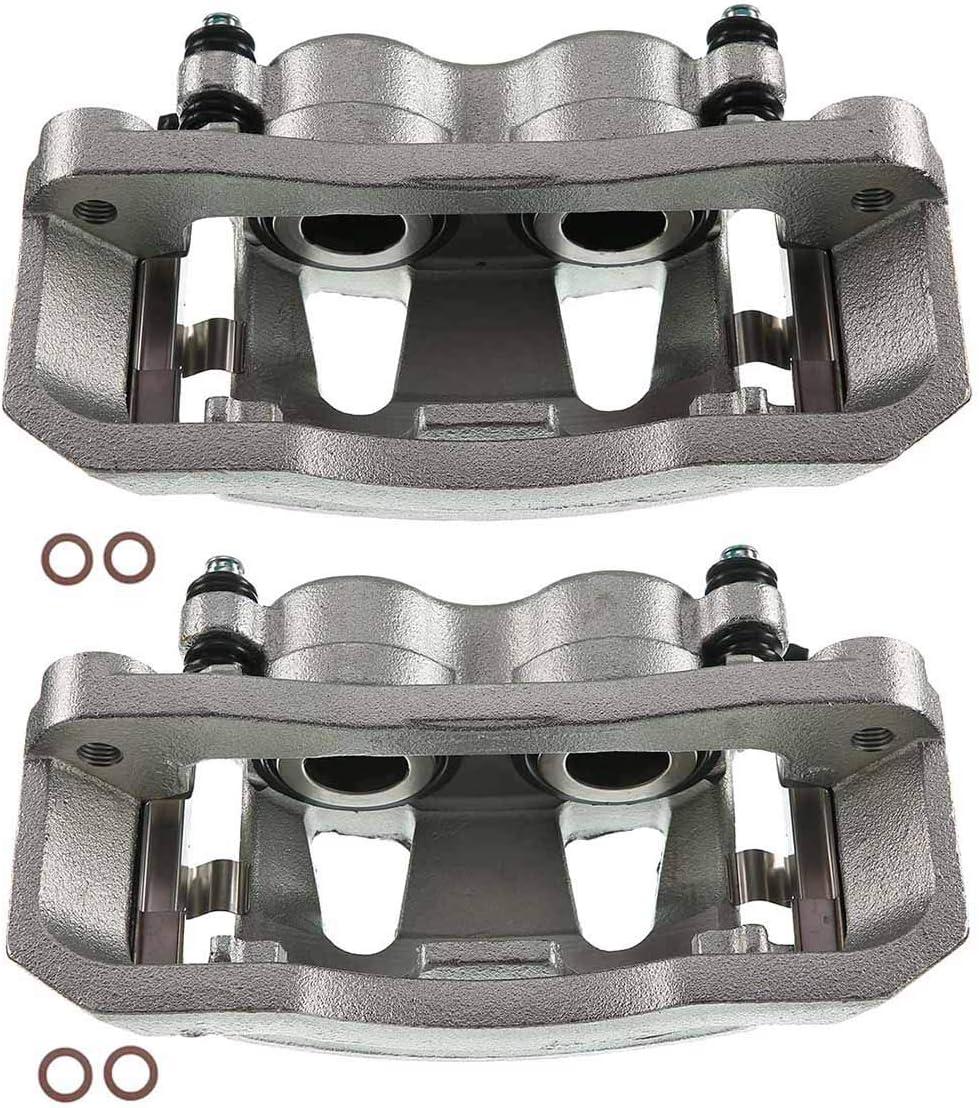 A-Premium Brake Caliper Assembly Compatible with Ford F-250 F-350 E-250 Econoline E-450 Super Duty Front Side 2-PC Set