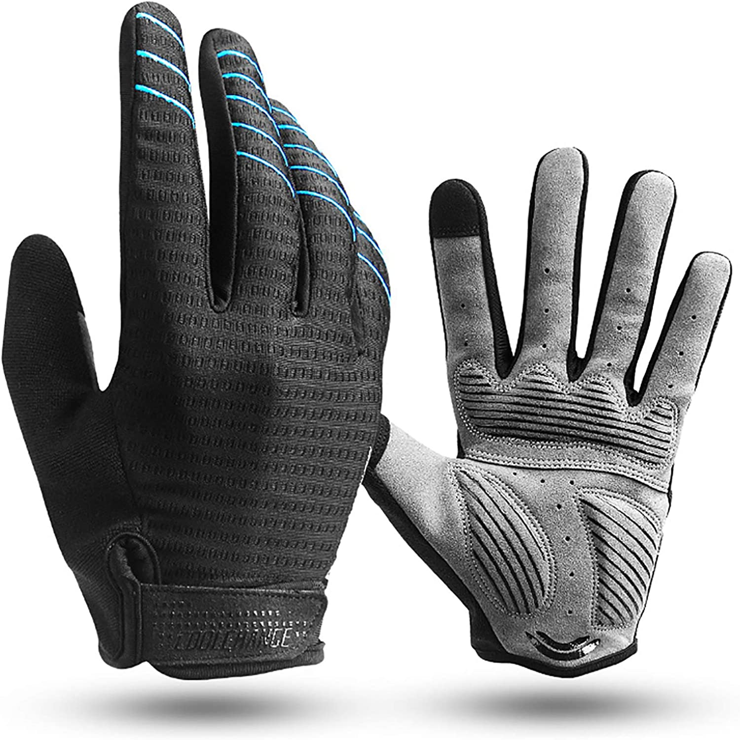 Cool Change Full Finger Bike Glove Touch Screen Gel Padded Winter Thin Cycling Gloves for Mens Women in Climbing Mountain Biking Running