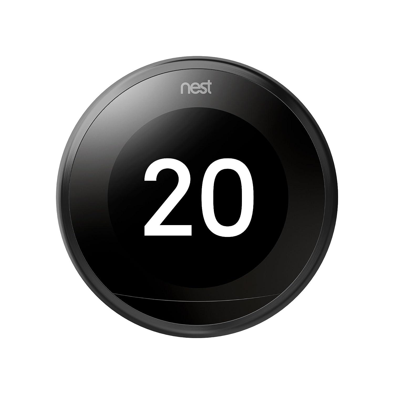 Nest Learning - Termostato Inteligente de 3 A Generación, Negro ...