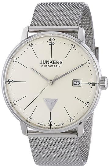 Junkers Bauhaus - Reloj de automático para hombre, con correa de acero inoxidable, color