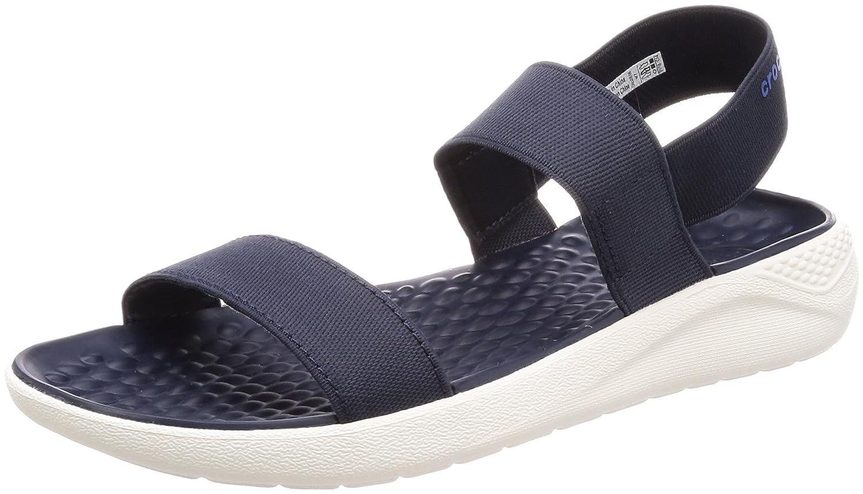 Crocs Donna  LiteRide Croslite Slip On Sandal Navy bianca-Navy-3 Dimensione 3