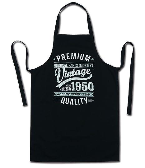 My Generation Gifts 1950 Vintage Year - Aged To Perfection - 70 Cumpleaños Regalos / 30 años Delantal para Hombre Negro