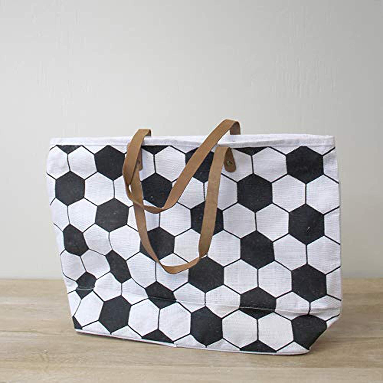 Sports Classic Natural Brown 22 x 15 Jute Burlap Fabric Tote Handbag