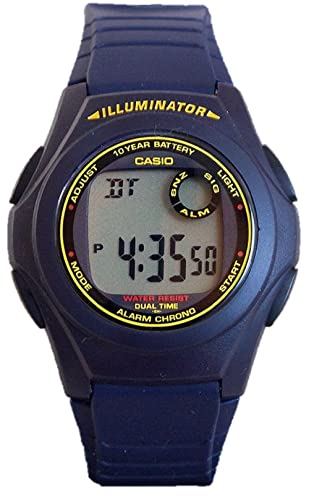 Casio #F200W-2A Mens Chronograph Alarm Illuminator Watch