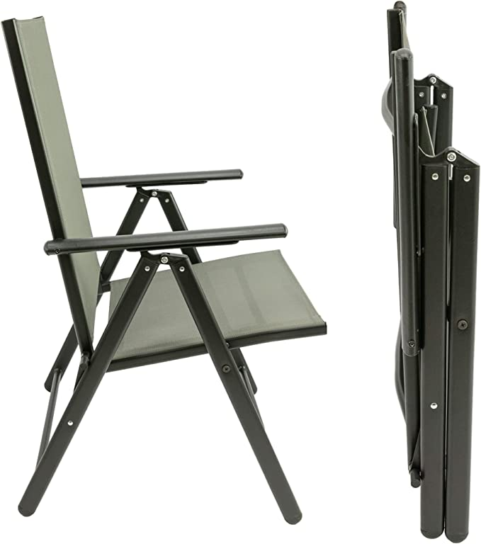 MaxxGarden Juego de 2 sillas plegables de jardín, sillas de ...