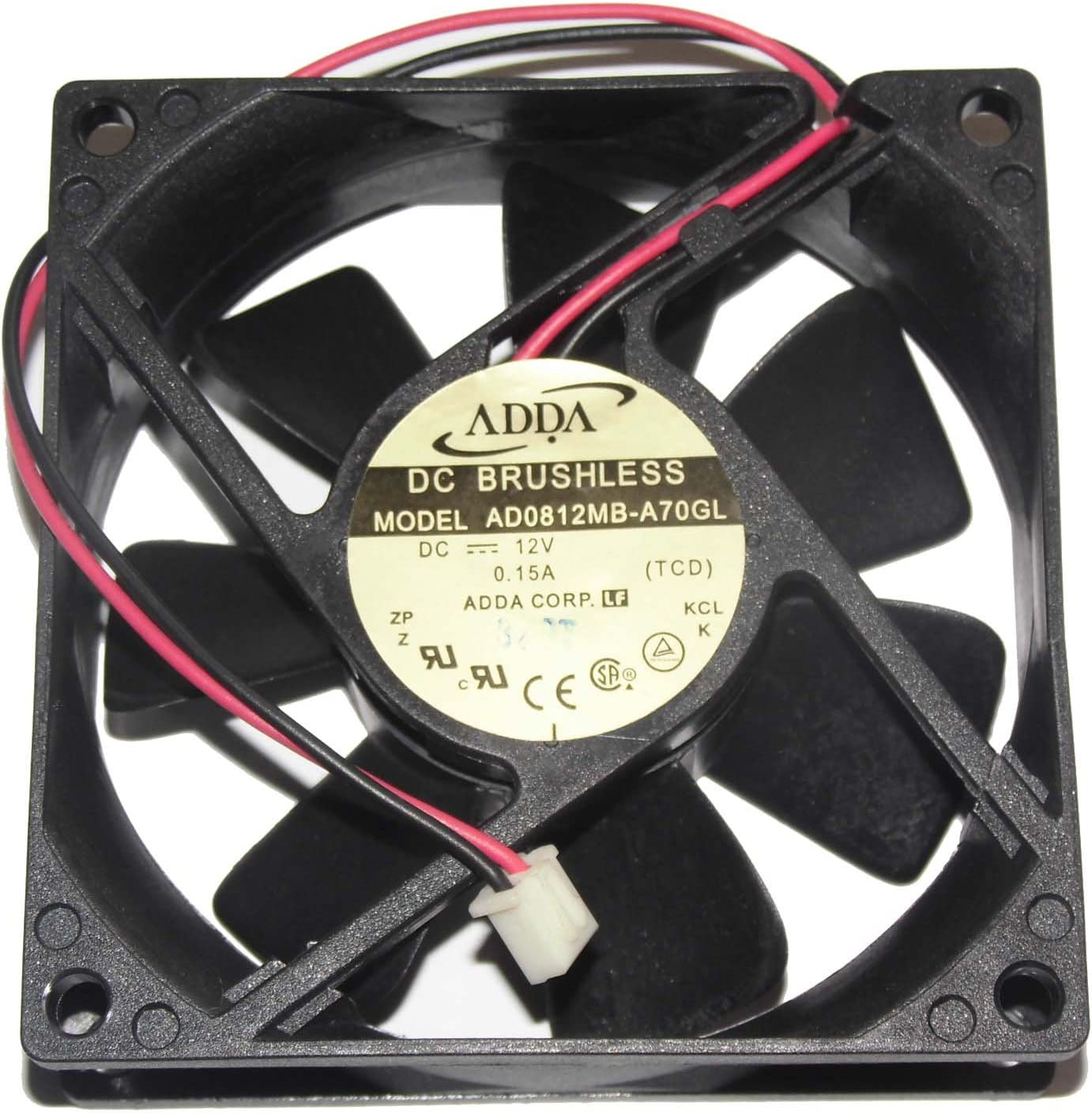 Brand new FOR ADDA AD0812MB-A70GL 8cm 8025 monitor cooling fan 12V 0.15A 2wires