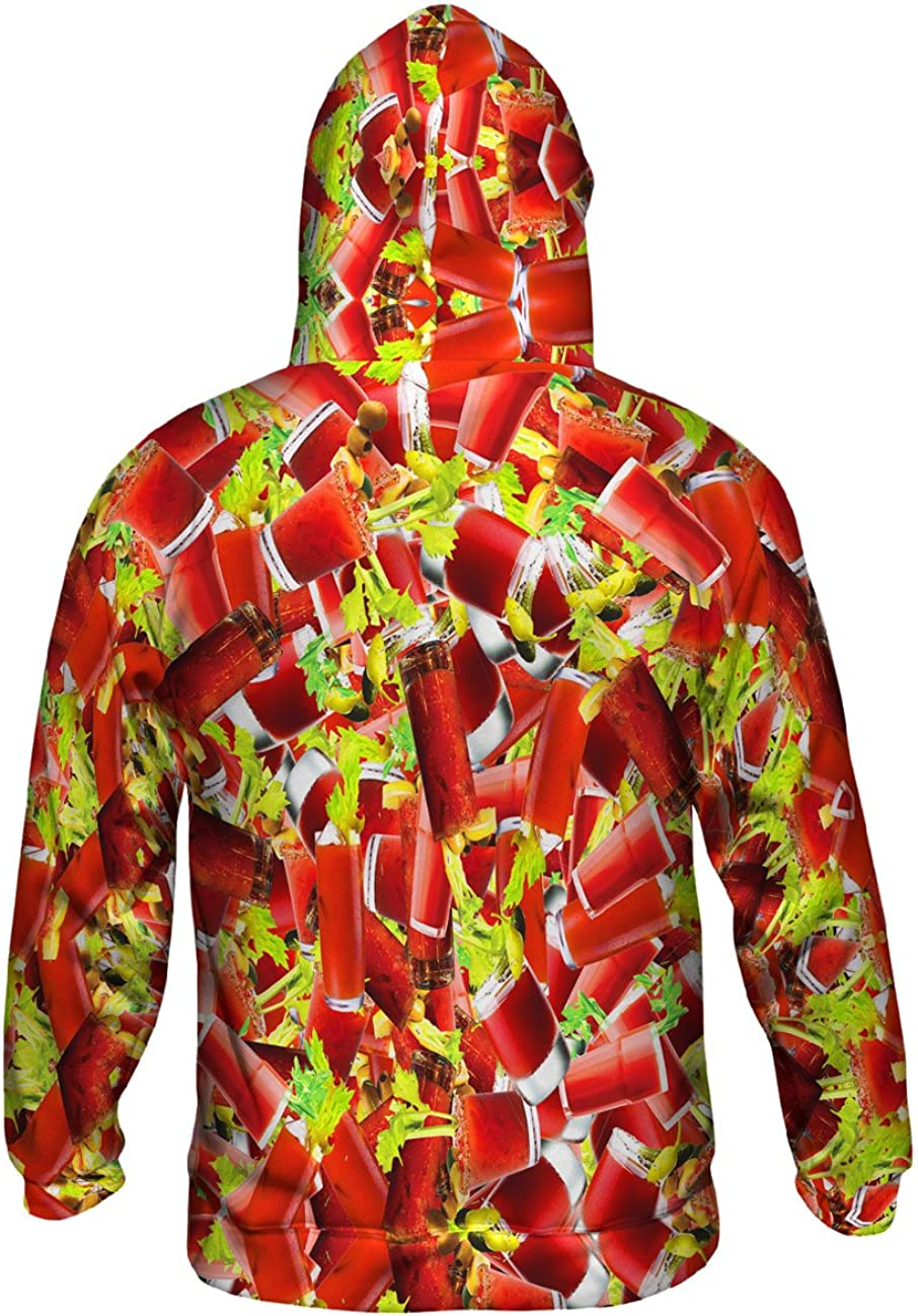 Allover Print Bloody Mary Morning Jumbo Mens Hoodie Sweater Yizzam