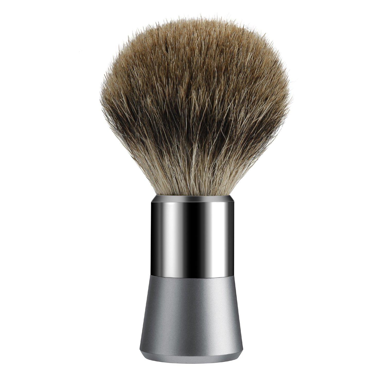 Tezam Badger Hair Shaving Brush- Badger Brush Shaving for Men Traditional Silvertip Badger Shaving Brush With Chrome Handle