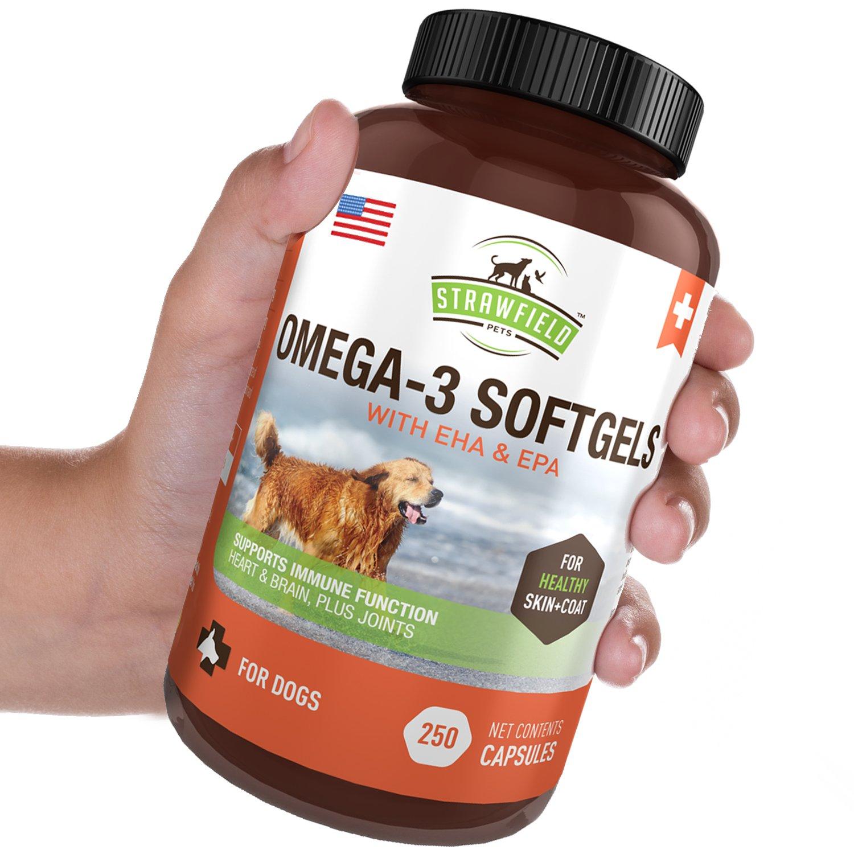 Omega 3 Fish Oil For Dogs 250 Softgel Pills 1000 Mg Epa