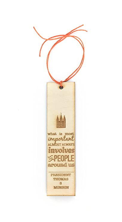 Amazoncom Lds Inspirational Quote Bookmark What Is Most