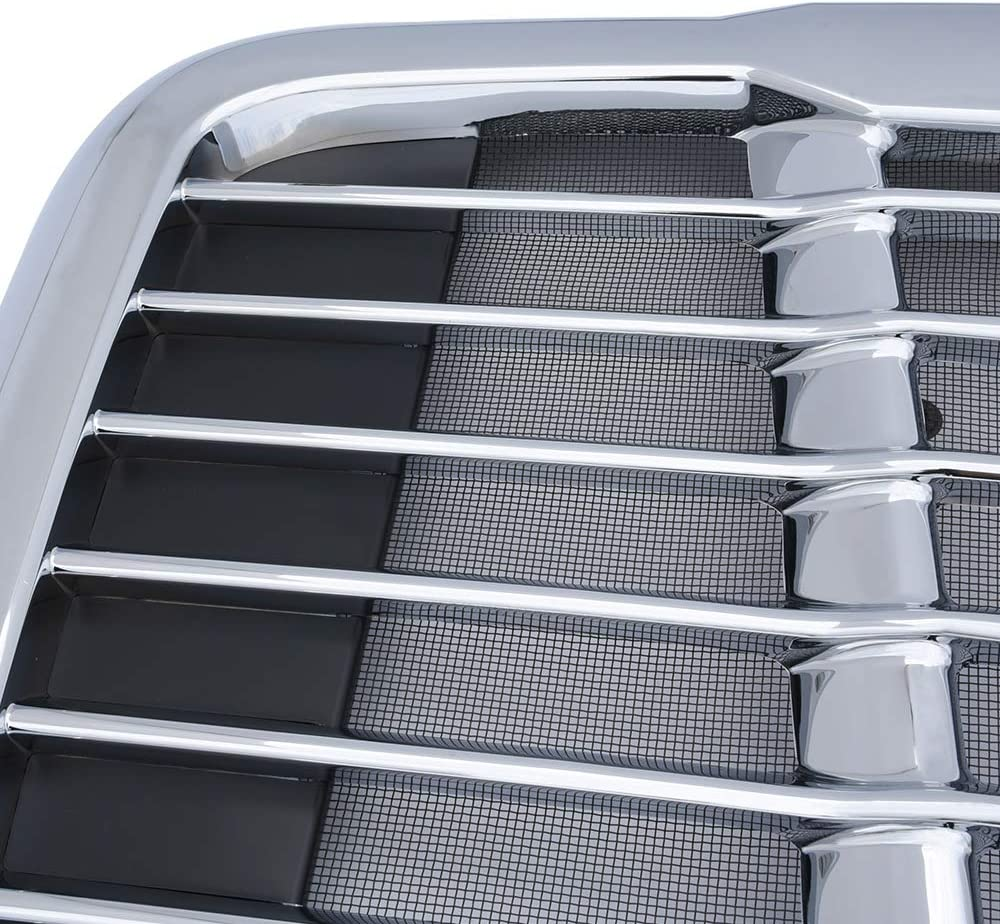 Front Bumper Hood Grill Replacement for Freightliner Cascadia 2008-2016 Radiator Grille Chrome Triple