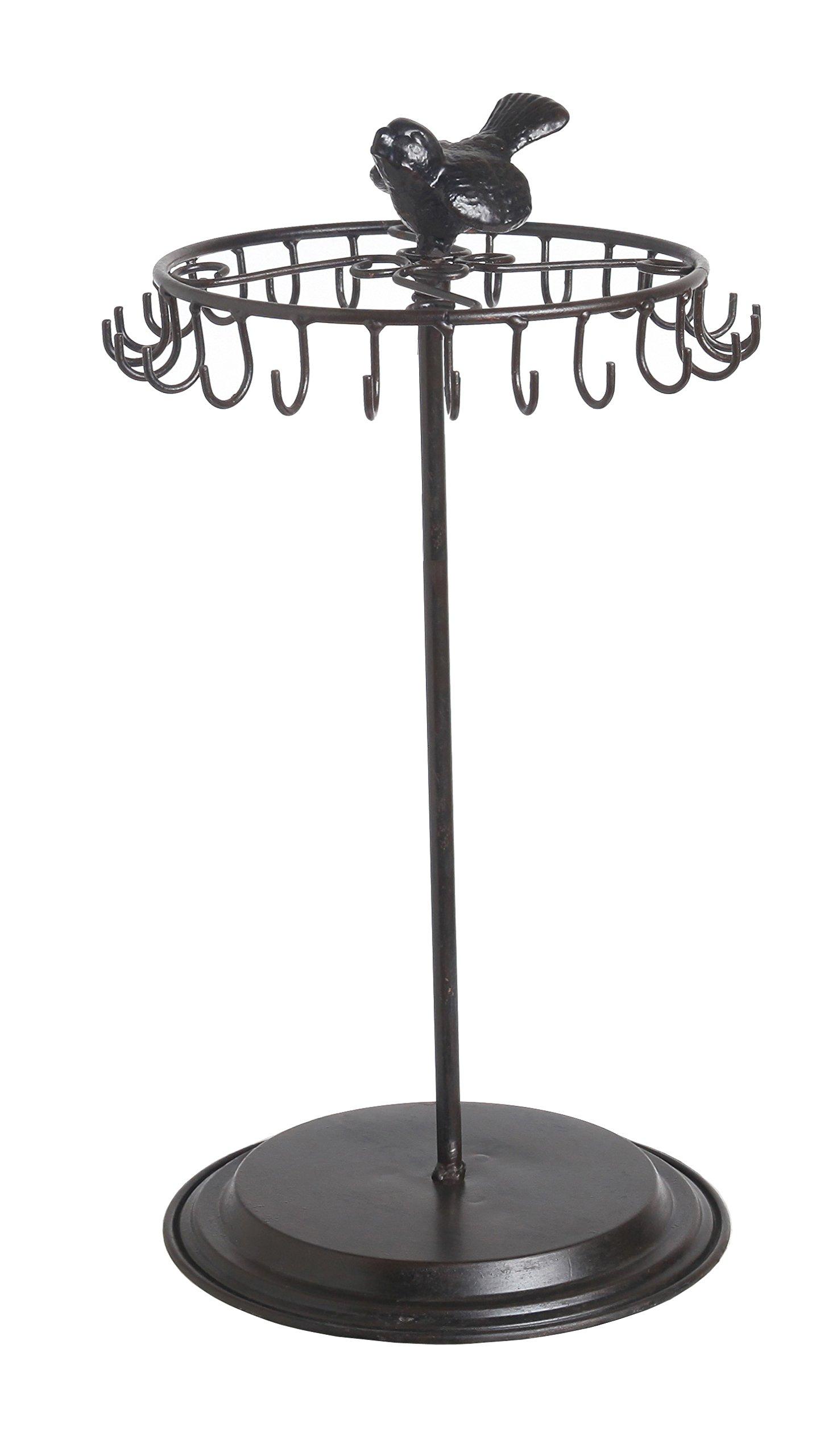 Owlgift Black Bird Rotating Necklace Holder Bracelet Stand/Jewelry Organizer/Jewelry Tree