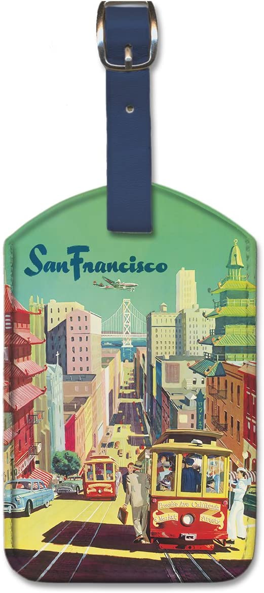 Pacifica Island Art Leatherette Luggage Baggage Tag Lulus Fish Shack by Sharp
