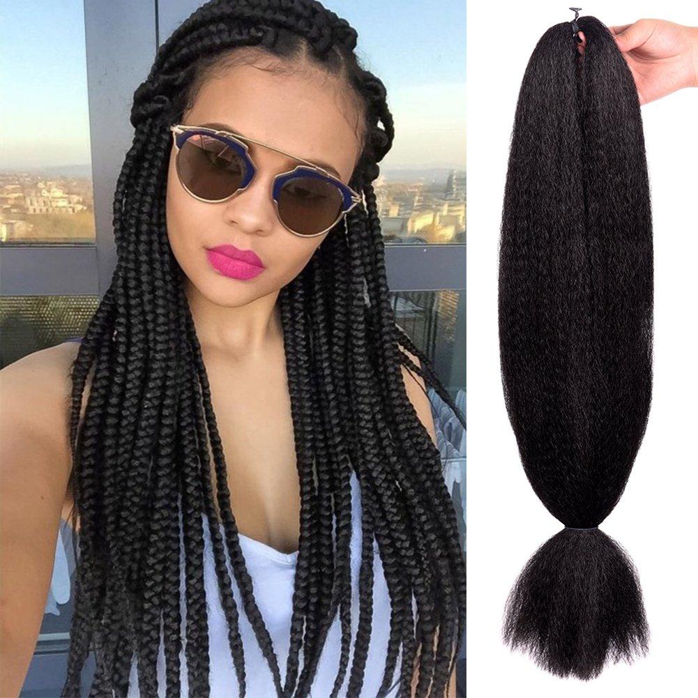 Aigemei Jumbo 100 Kanekalon 1pcs Lot 1 Braiding Hair Extensions Kanekalon 48inch African Hair Braiding 57g Pc Synthetic Straight Crochet Braids