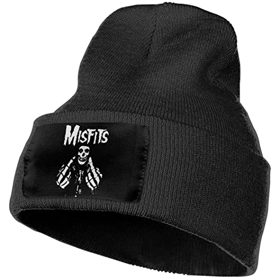 c9ad42a56ea Amazon.com  Misfits Fxx Skull Logo Unisex Beanie Cap Knit Skull Cap Hat  Knitted Hats  Cell Phones   Accessories