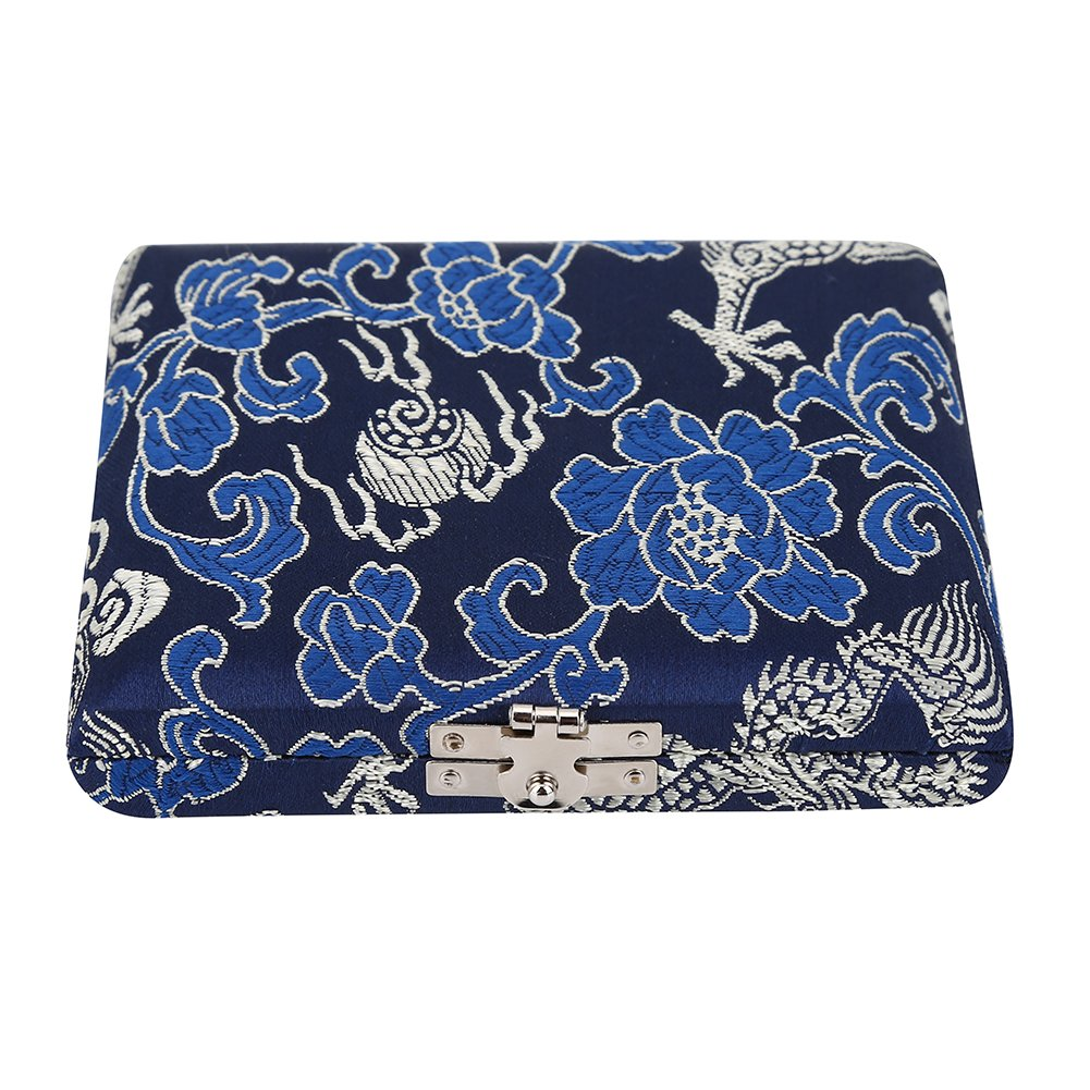 Wood Oboe Reeds Case Blue Silk Cloth Cover Reeds Protector Storage Box Accessory