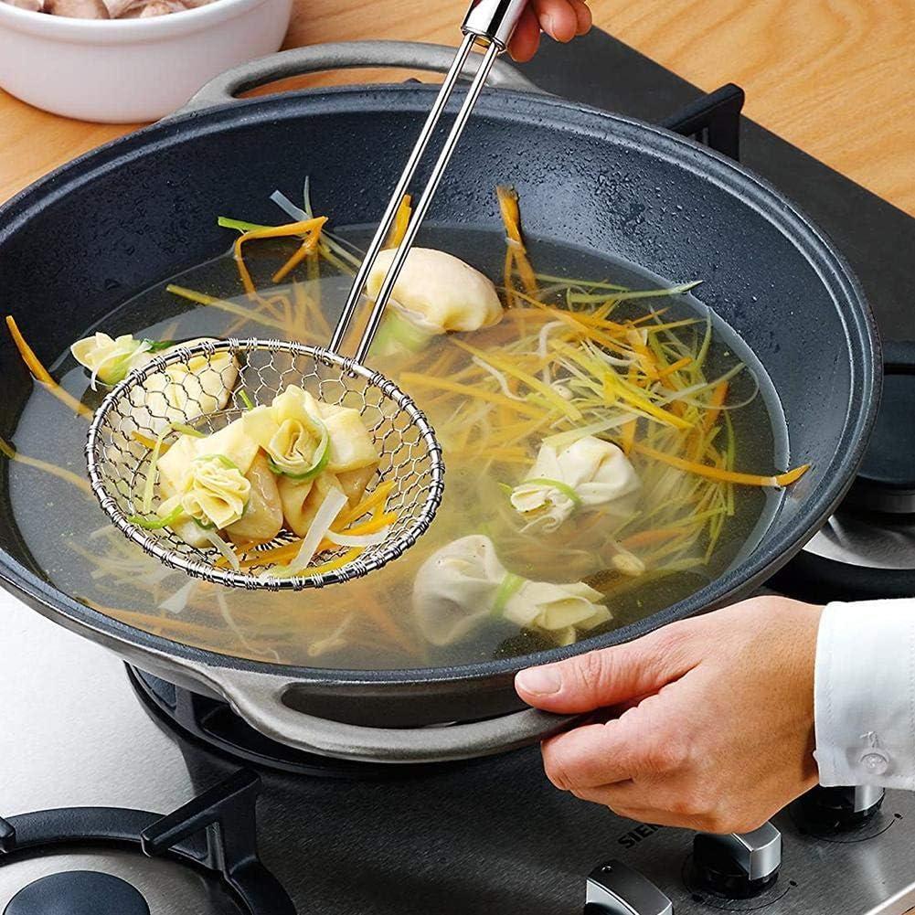 ADHG Cuisine en Acier Inoxydable araign/ée passoire Alimentaire Tamis Tamis passoire Fil /écumoire avec Filet de Maille en Spirale pour Outils de Cuisine
