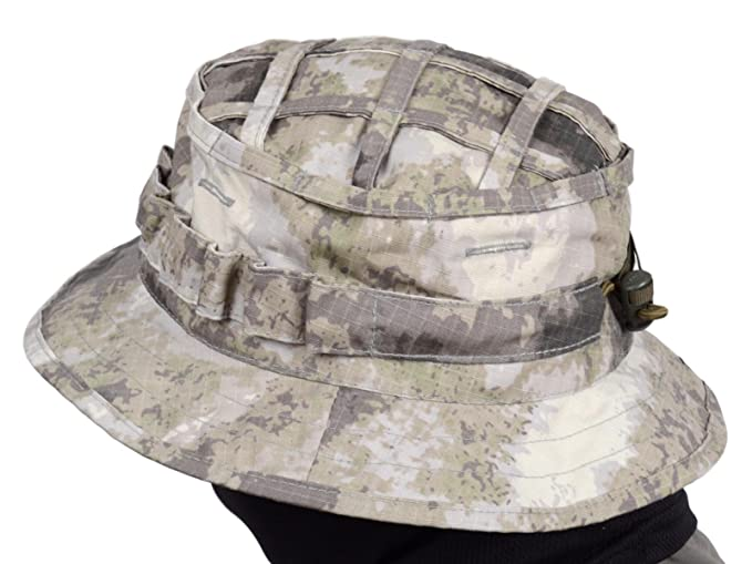 d241497a1b7 Amazon.com   ODINN Boonie Hat Panama Original Russian Army (A-TACS AU)    Sports   Outdoors