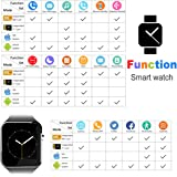Bluetooth Smart Watch With Camera, Touch Screen Smartwatch Phone Unlocked Watch Cell Phone Sim Card, Smart Wrist Watch, Smart Watch For Android Phones Samsung IOS Iphone 7 Plus 6S Men Women Kids Boys