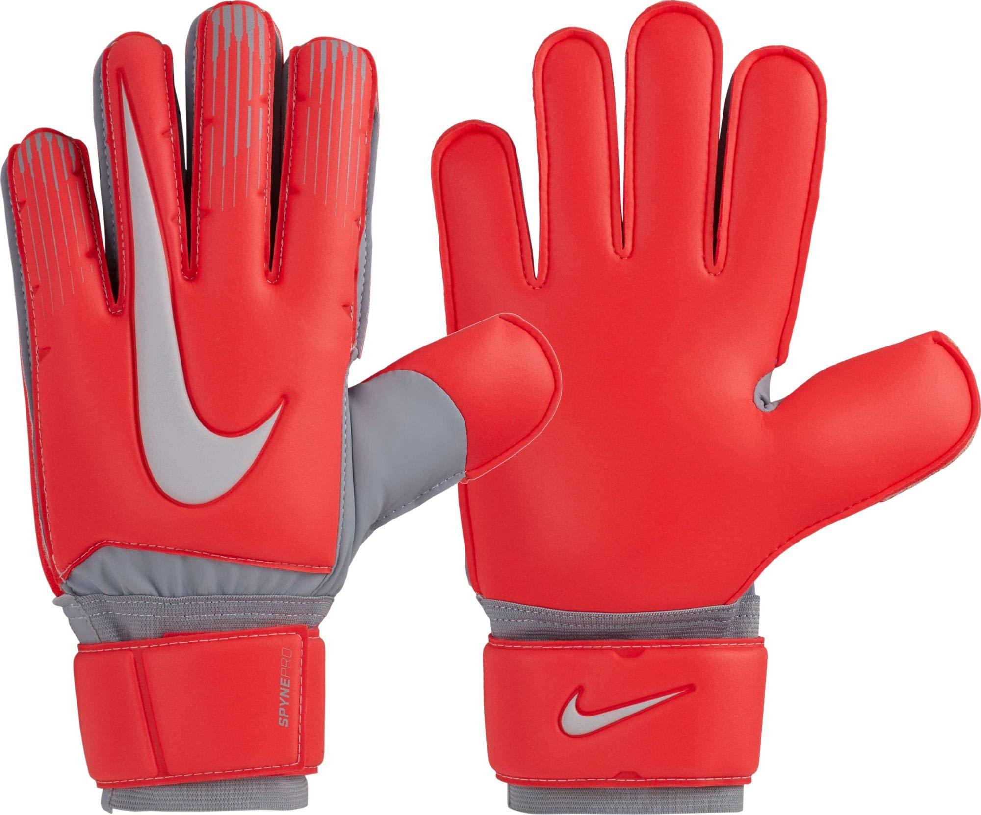 Nike Adult Spyne Pro Soccer Goalkeeper Gloves (Red/Grey, 7)