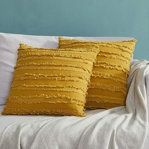 Amazon Com Gigizaza Decor Throw Couch Pillow Covers Sofa Cotton