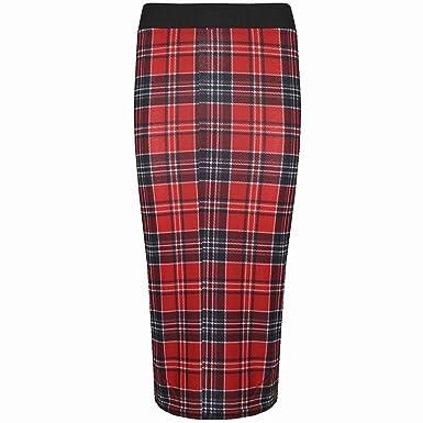 abdb65c0fa3b Be Jealous Femmes Imprimé Tartan Écossais Legging Ceinture Robe Patineuse Moulant  Jupe Crayon Mi-longue