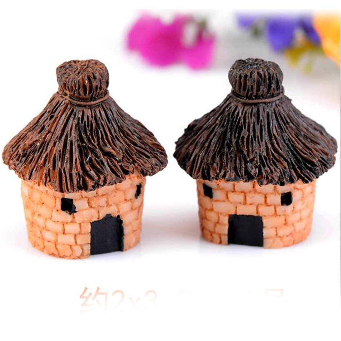 Cute Cottages Farmhouse Style Straw House Micro Landscape Ornaments Random Color-1.5x2x2.5cm rongwen LEPAZIK3432