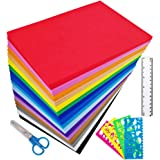 "Supla 96 Sheets 16 Colors EVA Foam Handicraft Sheets 2mm Thick Craft Foam Sheets 9"" x 6"" Assorted Colorful Crafting Sponge wi"