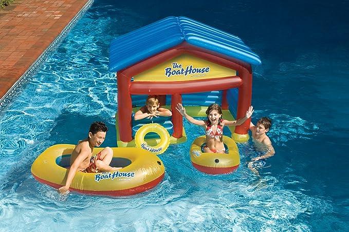 Amazon.com: Deportes de Agua Barco de piscina inflable boya ...