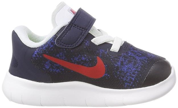 Nike Free RN 2017 (TDV), Zapatillas Unisex Bebé, Azul (Obsidian/University Red-Racer Blue-Photo Blue 405), 17 EU